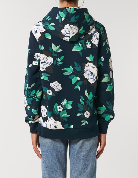 Hanorac AOP (all over print) Floral - unisex / femei - posterior