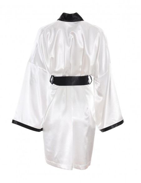 Kimono Emilia - byEDA - Alb Negru