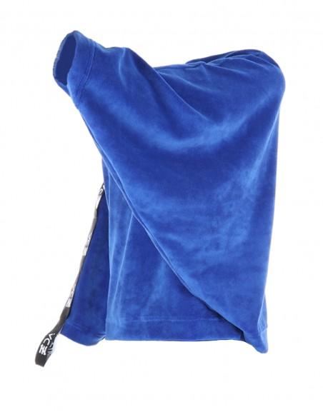 Bluza catifea Janice byEDA - Albastru
