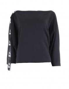 Reena - Bluza din bumbac cu maneci ample - byEDA - Negru