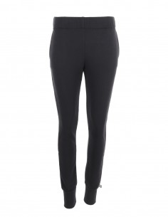 Reena - Pantaloni din bumbac slim fit - byEDA - Negru
