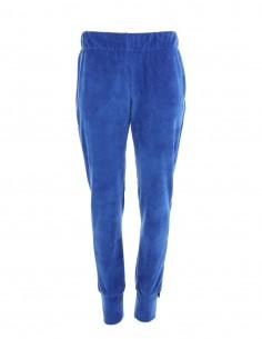 Brianna - Pantaloni de catifea tip jogger medium fit - byEDA - Albastru