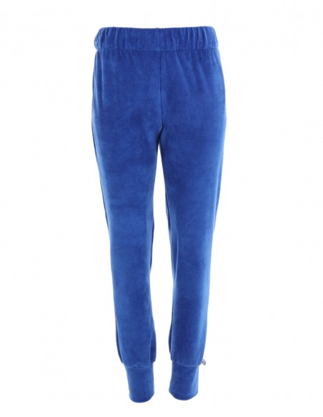 Stephanie - Pantaloni din catifea relaxed fit - byEDA - Albastru
