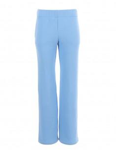Kiera - Pantaloni din bumbac cu decupaj - byEDA - Bleu