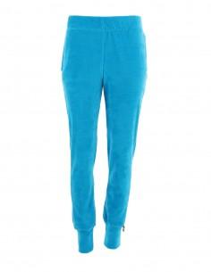 Brianna - Pantaloni de catifea tip jogger medium fit - byEDA - Turcoaz