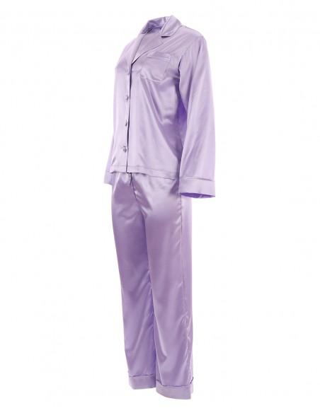 Carmina - Pijama din satin pretios - byEDA - Lila