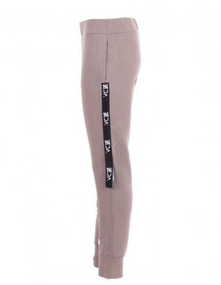 Dakota - Pantaloni din bumbac medium fit - byEDA - Cappuccino