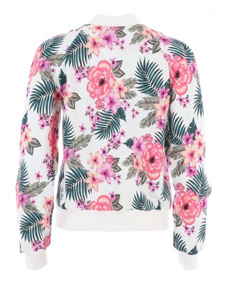 Bluza tip bomber din bumbac Marrakech - Floral