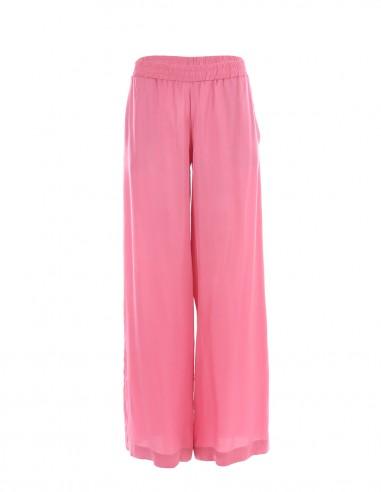 Pantaloni vaporosi de vara - Roz - byEDA