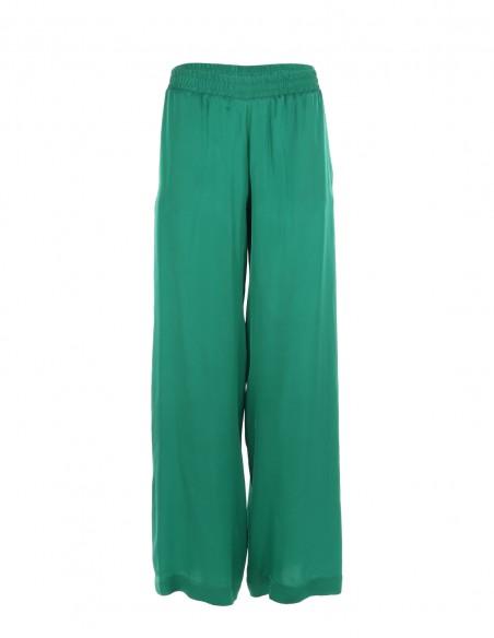 Pantaloni vaporosi de vara - Verde - byEDA