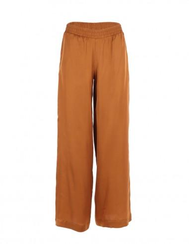 Pantaloni vaporosi de vara - Coniac - byEDA