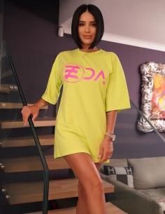 Adelina Pestritu - Tricou oversized cu logo EDA - Fistic - byEDA