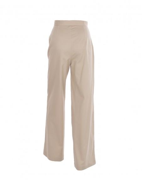 Pantaloni din bumbac - Bej - byEDA