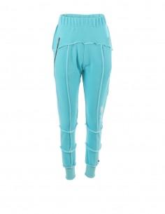 Pantaloni de trening cu fermoare - byEDA - Turcoaz