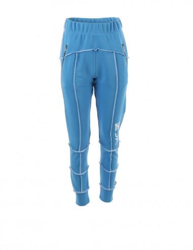 Pantaloni de trening cu fermoare - byEDA - Albastru