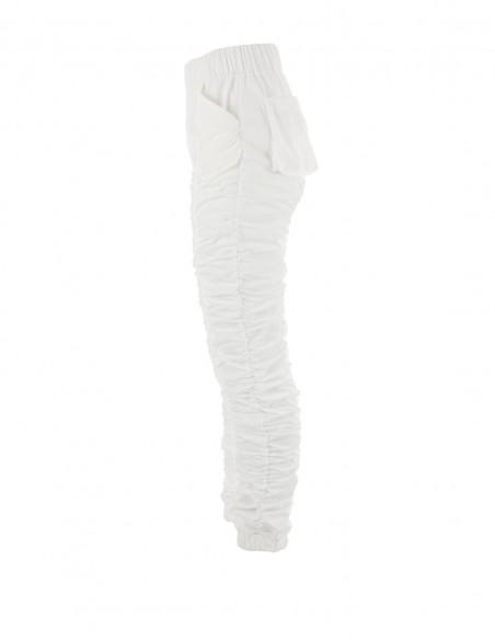 Pantaloni fronsati - byEDA - Off-white