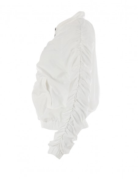 Jacheta cu fronseuri - byEDA - Off-white
