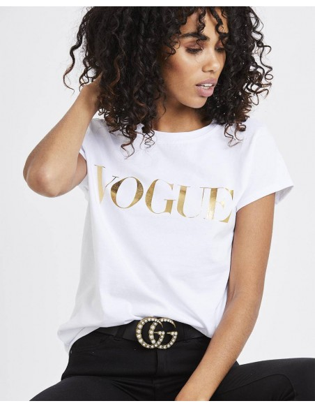 Tricou Vogue Metalic Gold