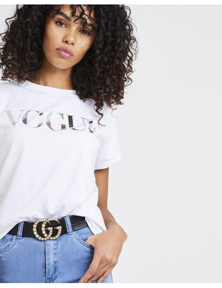 Tricou Vogue Metalic Silver