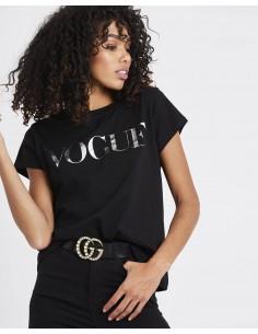 Tricou Vogue Metalic Silver negru