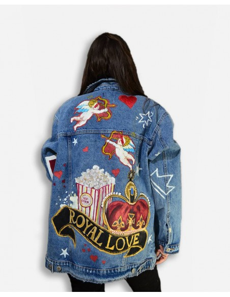Jacheta Denim oversized, Royal Love