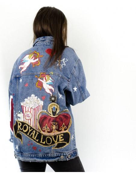 Jacheta Denim oversized, Royal Love
