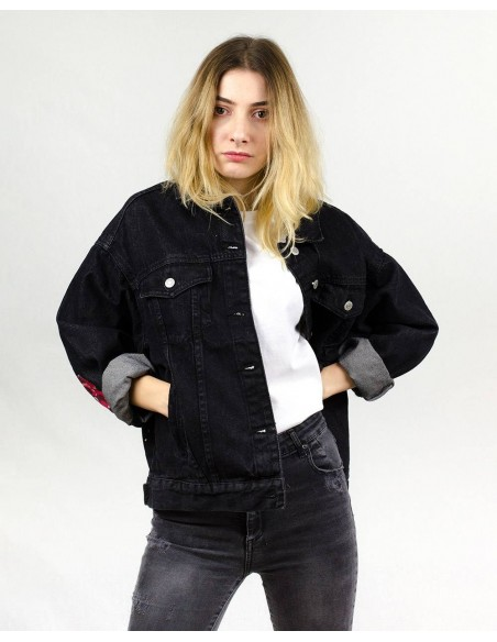 Jacheta Denim oversized, Welcome to Paradise
