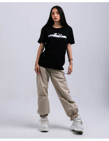 Tricou unisex bumbac organic ByEDA Streetwear negru fata frontal