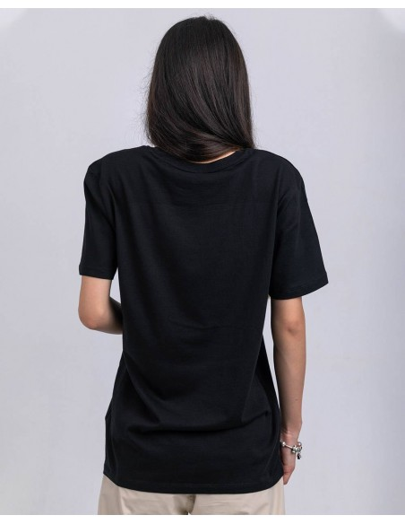 Tricou unisex bumbac organic ByEDA Streetwear negru fata posterior