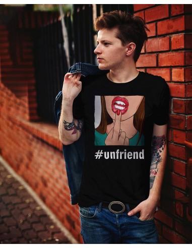 Tricou unisex Unfriend negru
