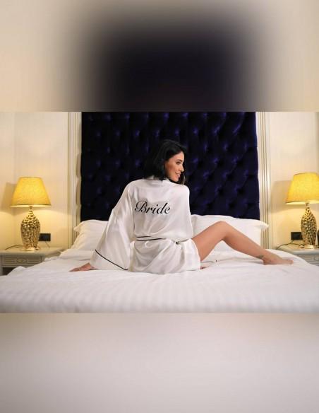Halat din matase naturala Bride - petrecerea burlacitelor - Adelina Pestritu
