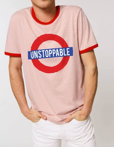 Tricou Unstoppable barbati roz frontal