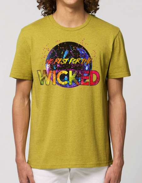 Tricou barbati No rest for the Wicked mustar frontal
