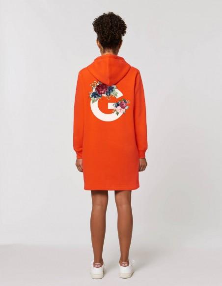 Rochie Goodz portocaliu posterior
