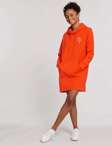 Rochie Goodz portocaliu frontal