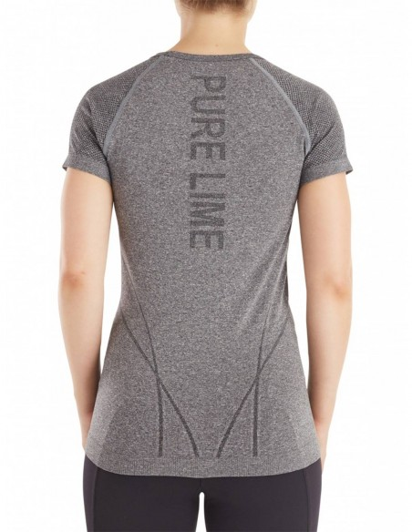 Pure Lime Tricou Dry Pure Tech - Charcoal melange posterior