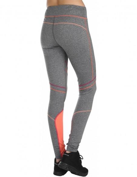 Pure Lime Colanti sport Pulse Up cu cusaturi multiple - Charcoal melange posterior