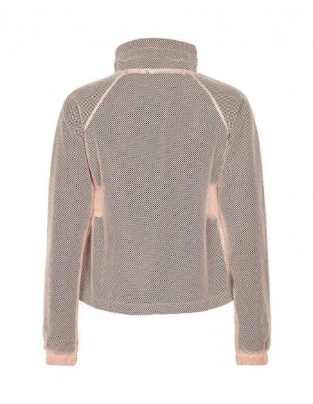 Jacheta din plasa Pure Mesh - Adobe Rose posterior