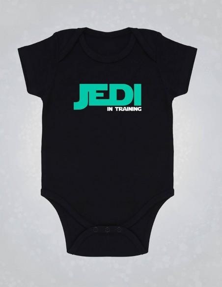 Jedi - Body pentru bebelusi si copii - bumbac organic - Negru frontal