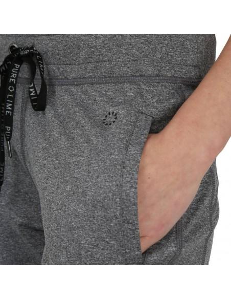 Pure Lime Pantaloni sport pentru femei Athletic - Charcoal Melange detaliu