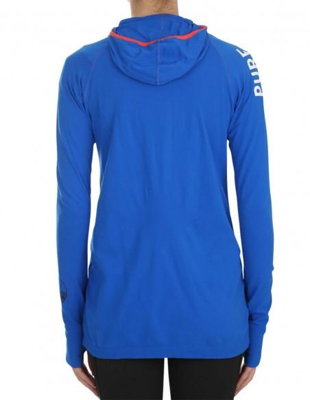 Pure Lime Bluza sport cu maneca lunga Active - Lapis Blue posterior