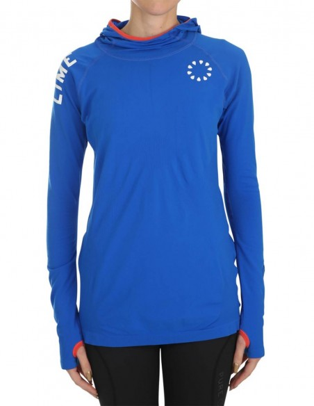 Pure Lime Bluza sport cu maneca lunga Active - Lapis Blue frontal