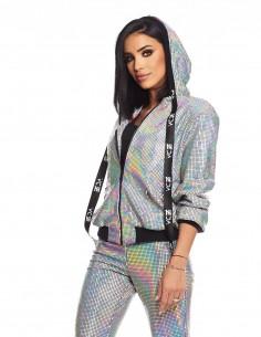 Adelina Pestritu - Jacheta bomber glamour cu gluga (photo: Studio Baragan)