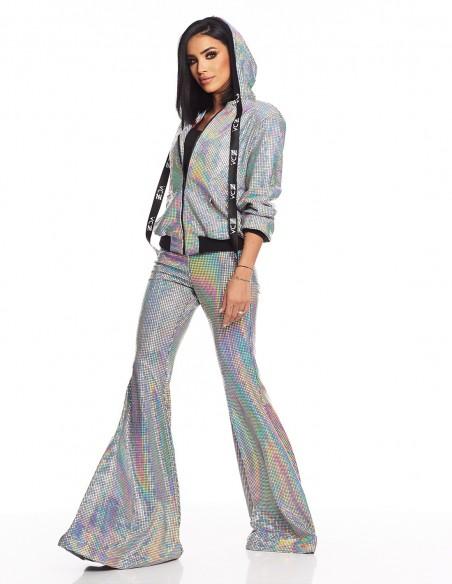 Adelina Pestritu - Pantaloni glamour evazati cu talie inalta - Hologram (photo: Studio Baragan)