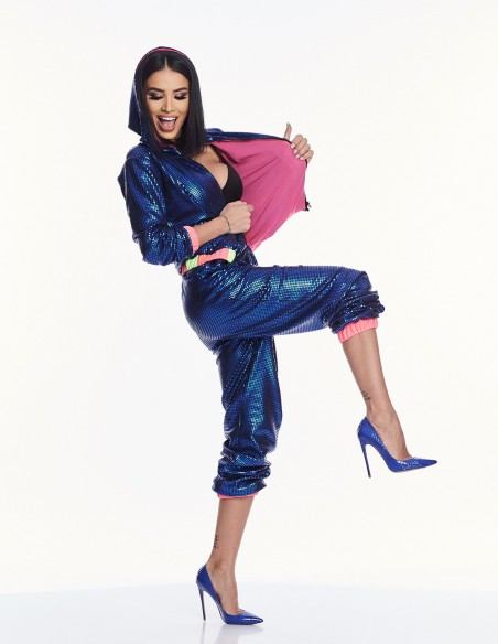 Adelina Pestritu - Pantaloni cu paiete si detalii colorblock (photo: Studio Baragan)