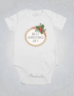 Body Best Christmas Gift - Body pentru bebelusi si copii - bumbac organic - Alb