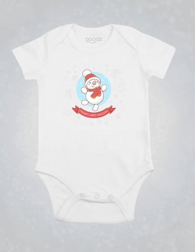 Body Primul meu Craciun - Body pentru bebelusi si copii - bumbac organic - Alb