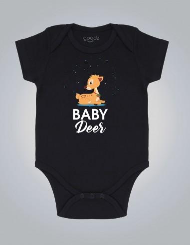 Baby Deer - Body pentru bebelusi si copii - bumbac organic - Negru