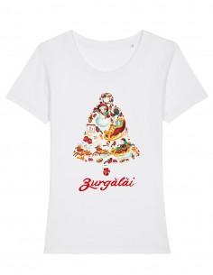 Zurgalai - Tricou alb din bumbac organic pentru femei