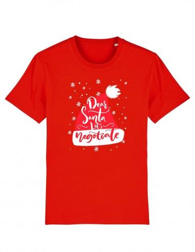 Let's Negociate - Tricou rosu unisex din bumbac organic